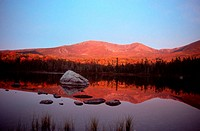lake in morning atmosphere, USA, Maine, Baxter State Park
