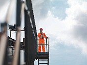 Coal Worker On Viewing Platform