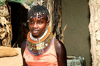 Samburu woman, portrait, Kenya