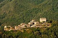 village Lerdu near Bastia, France, Corsica, Castagniccia