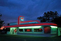 Typical Diner at the Route 66 in California, USA, North America