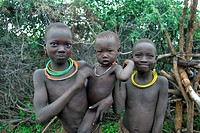 three Toposa children, Sudan