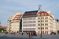 Houses at Neumarkt square, old town, Dresden, Saxony, Germany