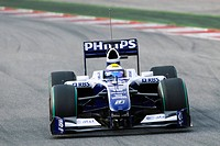 Nico Rosberg in the Williams FW31 during Formula One testing sessions on Circuit de Catalunya near Barcelona, Spain