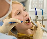 Patient having a dental treatment