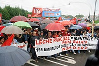 ERE demonstration against milk Pascual Outeiro de Rei, Lugo date :16-05-2009 Photo: &#169; eliseo wheat