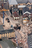 Aerial view, collapse of the Historical Archive of the City of Cologne, Cologne, North Rhine_Westphalia, Germany, Europe