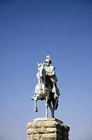 Rider_monument of Emperior Wilhelm I. on the Hohenzollern bridge , Germany, North Rhine_Westphalia, Koeln