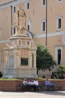 eleonora d´arborea statue, oristano, sardinia, italy