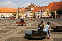 Mare square  Sibiu  Transylvania  Romania