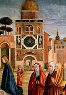 Presentation of Mary at the Temple Detail 1500_10 Vittore Carpaccio ca.1455_1526 Italian Oil on canvas Pinacoteca di Brera, Milan, Italy
