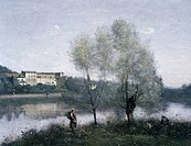 Ville D´Avray, 1867_1870, Jean_Baptiste_Camille Corot, 1796_1875/French, Oil on canvas, National Gallery of Art, Washington, D.C., USA