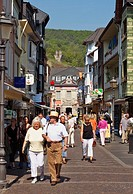 Shopping in the old town of Ahrweiler Germany Europe
