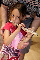 Florida, Miami, Adrienne Arsht Performing Arts Center, centre, Family Fest, Instrument Discovery, music, hands on, art, education, Hispanic, girl, stu...