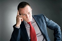 Thoughtful looking businessman (thumbnail)