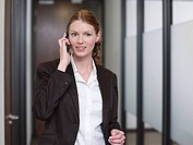 Businesswoman on cellphone