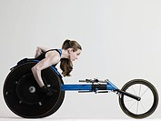 Female wheelchair athlete