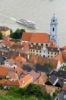 Stiftskirche and Danube River