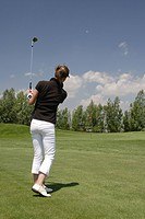 golf player at golf course