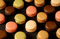 Colored macaroons, La Baroche, Alsace, France, Europe