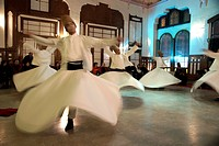 Whirling Dervishes at Sirkeci Station waiting room