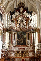High altar in Graz Cathedral, Graz, Styria, Austria, Europe