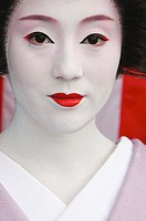 A Geisha after dancing during the Kyoto Spring Geiko Dances