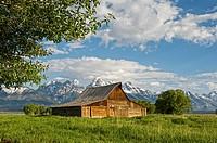 Old barn at Mormon Row, Grand Teton National Park, Wyoming, USA