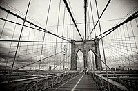 Brooklyn bridge, Downtown, Manhattan, New York, USA