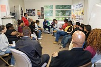 Red Springs, North Carolina - Union organizers from the United Food and Commercial Workers talk with workers, students, and community members about th...