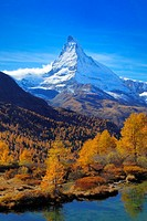 Matterhorn in autumn, Switzerland, Valais, Zermatt