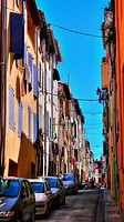 Buildings in Perpignan, Pyrenees-Orientales, Languedoc-Roussillon, France