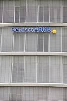 Deutsche BKK, logo on the facade of a office building, Wolfsburg, Lower Saxony, Germany, Europe