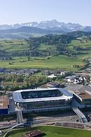 AFG Arena St. Gallen mit Säntis
