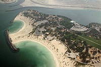 Aerial photo, beach, tourism, Dubai, United Arab Emirates