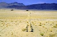 rail track in desert, Namibia, Namib