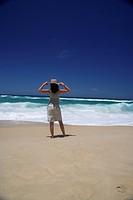 single woman at the beach, Australia