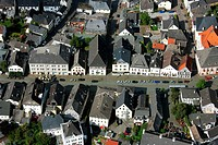 Aerial photograph, Arnsberg Steinweg, from old market to bell tower, Hochsauerland district, Arnsberg, Sauerland, North Rhine_Westphalia, Germany, Eur...