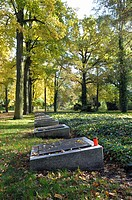 Mass graves in Ploetzensee, partly unknown dead from the last months of the second world war, Berlin, Germany, Europe