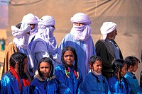 young Tuaregs at the festival of Ghat, Libya