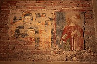 Frescoes in the Basilica San Zeno Maggiore in Verona, Italy, Europe