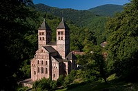 Abbey of Murbach, romanic style, Vosges, Alsace, France