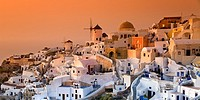 Oia. Santorini island, Cyclades islands, Aegean Sea, Greece, Europe