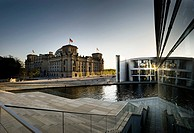 Reichstag Building and Paul Loebe House, Berlin, Germany