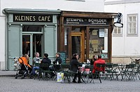 Kleines Cafe and Stempel shop, Franziskanerplatz, Vienna, Austria, Europe