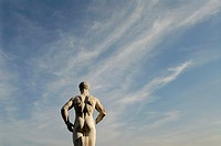 Italy  Rome  Giant marble statues of naked male athletes in the fascist era Stadio dei Marmi, in the Foro Italico sports complex