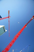 Warsaw, Warszawa, Poland, hoisting cranes, crane