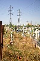 Graveyard at Bazua, Moldavia, Romania