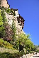 Travel photograpy from village Cuenca, Hanging houses, casas colgadas, in the Province of Castilla La Mancha in Spain