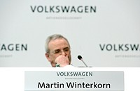 Martin Winterkorn, chief executive officer of Volkswagen AG, during the financial statement press conference on 13.03.2008 in Wolfsburg, Lower Saxony,...